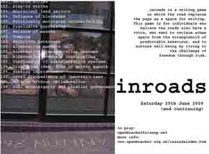 Inroads: Invitation for a text game in Central London, 2005